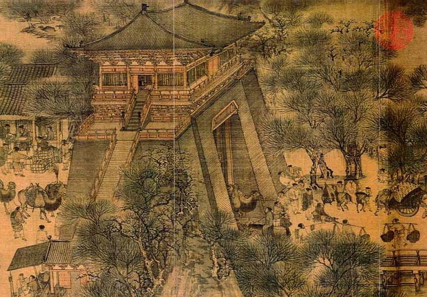 Scroll painting from the Chinese Sung Dynasty by Chang Tse-Twan